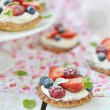 Stock Photo: Summer berries tartlets