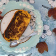 Stock Photo: Pumpkin chokolate cake