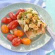 Stock Photo: Herby tofu scramble
