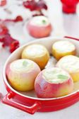 Baked apples with cottage cheese — Stock Photo