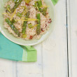 Asparagus  risotto — Stock Photo