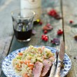 Stock Photo: Duck breast with barley and vegetables