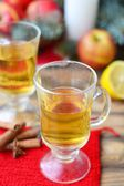 Mulled apples wine — Stock Photo