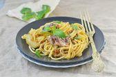 Spaghetti with sardine sauce  — Foto de Stock