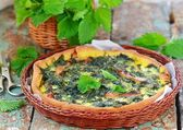 homemade nettle quiche  — Stock Photo