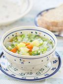 Cabbage and summer vegetables soup   — Stock Photo