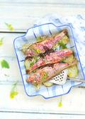 baked surmullet — Stock Photo