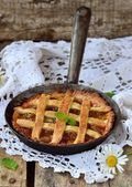 Rhubarb pie — Stock Photo