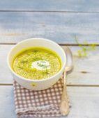 Vegetable marrows soup — Stock Photo