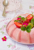 Frozen strawberry jelly — Stockfoto