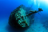 Wreck in the Red Sea — Stock Photo
