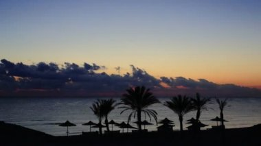 Sunset on Beach Time Lapse. — Stock Video