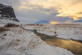 冰岛性质 — 图库照片