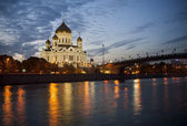 Cathedral of Christ the Savior at night — Stock Photo