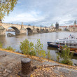 Stock Photo: Prague cityscape with Charles bridge