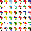 African flags - Stock Vector