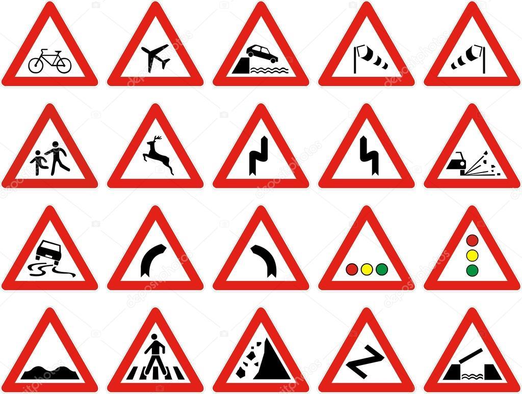 Traffic signs — Stock Vector © bojanpaunovic93 #13869857