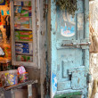 Stock Photo: A small kiosk in Tanger, Morocco
