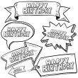 Happy Birthday banners, labels, and tags — Stock Vector #13883970