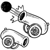 Croquis de l'antique canon — Vecteur