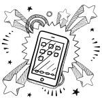 Smartphone sketch — Stock Vector