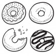 Royalty-Free Stock Vector Image: Donut or doughnut sketch