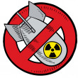 Anti-nuclear weapons sketch - Vettoriali Stock 