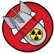 Anti-nuclear weapons sketch - Stock Vector