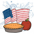 As American as Apple Pie sketch — Stock Vector