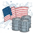 Stock Vector: Americoil dependency sketch