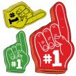 Colorful foam finger sketch — Stock Vector