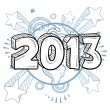 2013 New Years Eve sketch — Stock Vector