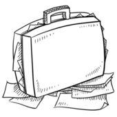 吃公文包素描 — 图库矢量图片