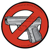 Gun control sketch — Vector de stock