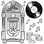 Retro jukebox sketch — Stock Vector #13920738