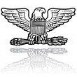 Stock Vector: US Army eagle military insignia