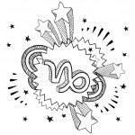 Capricorn zodiac pop sketch — Stock Vector