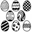 Easter egg assortment vector sketch — Stock Vector