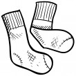 Athletic socks vector sketch — Stock Vector