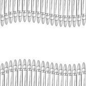 Seamless bullet vector border — Stock Vector