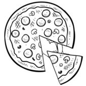 Pizza sketch — Stock Vector