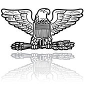 US Army eagle military insignia — Stock Vector