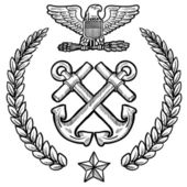 US Navy military insignia — Stockvector