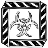 Biohazard symbol warning sign — Stok Vektör