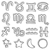 Zodiac astrology symbol vector set — Stock Vector