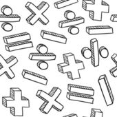 Seamless mathematics or education vector background — Stock Vector