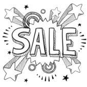 Sale icon on retro pop background — Stock Vector