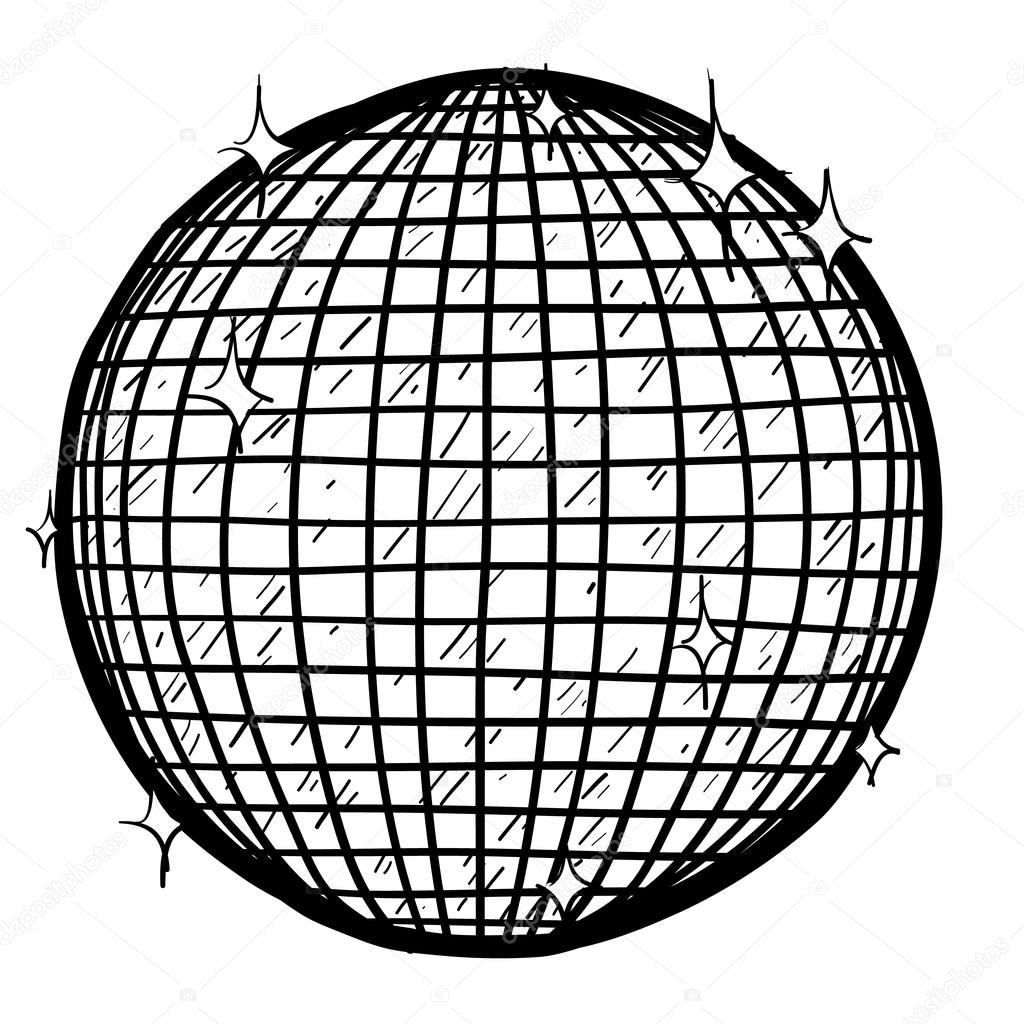 Disco coloring pages for kids sketch coloring page for Disco ball coloring page