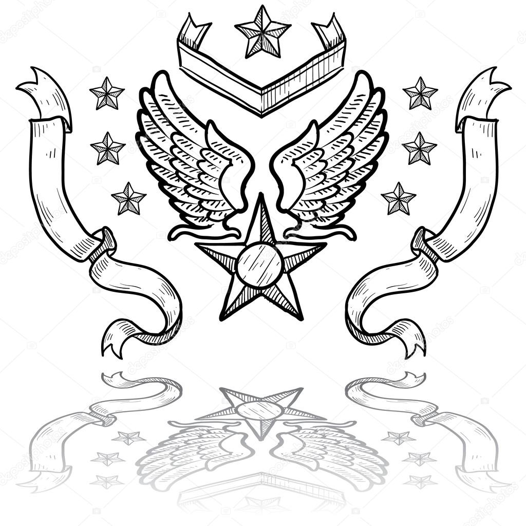 air force insignia coloring pages - photo#13