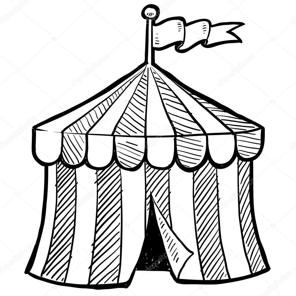 circus tent coloring pages preschool - photo#3